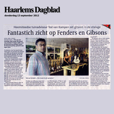 GITAARSHOP HEEMSTEDE MEDIA HAARLEMS DAGBLAD