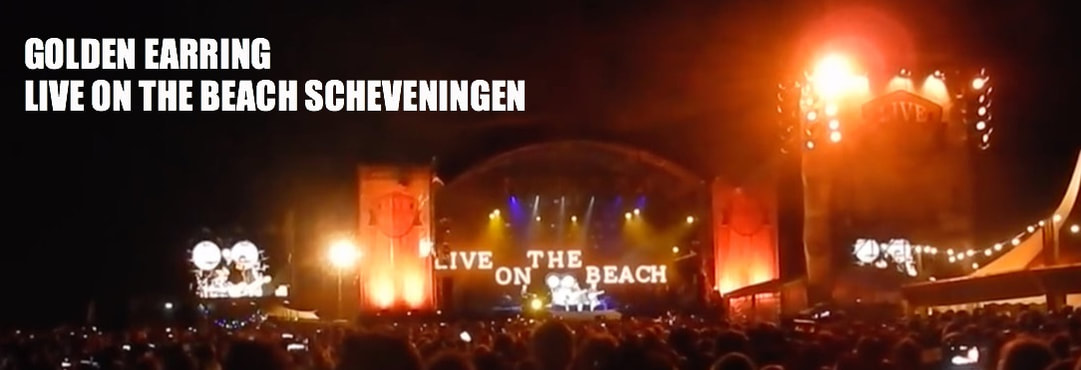GITAARSHOP HEEMSTEDE GOLDEN EARRING LIVE ON THE BEACH SCHEVENINGEN